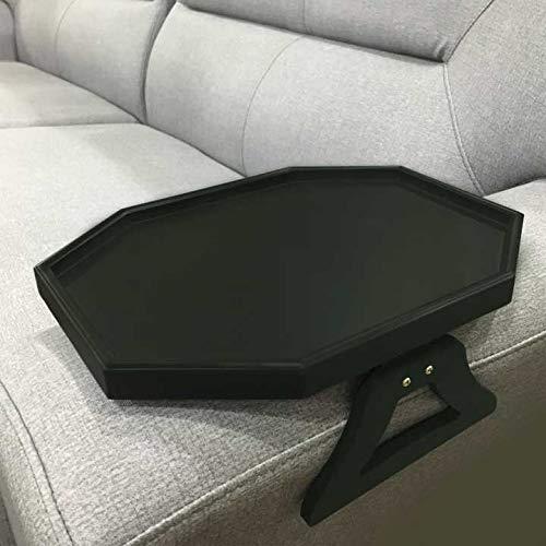 Armlehne aus Holz für Sofa, Couch, Armlehne zum Anklemmen, Ablage für Kaffee/Snacks/Elektronik (schwarz)