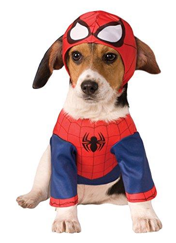 Gr. M Spiderman LIZENZ Hundekostüm Hunde Kostüm Karneval Hund Kleidung 3580066