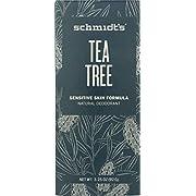 Schmidt's Natural Deodorant for Sensitive Skin - Tea Tree, 3.25 ounces. Stick for Women and Men