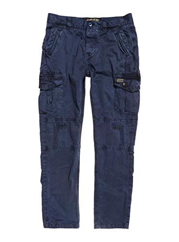 Superdry Pantalones Cargo Azul Mujer