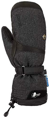 Reusch Damen Nuria R-TEX XT Mitten Handschuhe, Black/Black Melange, 7.5