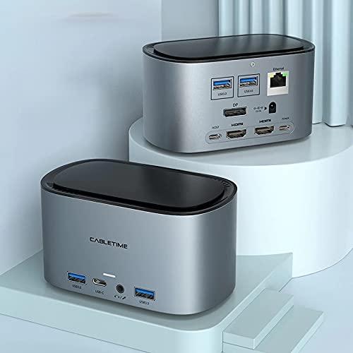 13-in-1 Multi-USB-Docking-Hub, grau, USB...