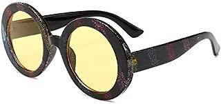 Sunglasses Fashion Accessories Colored Stripes Retro Round Sunglasses Style Minimalist Design (Color : Yellow)