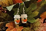 Pumpkin Spice Latte Coffee Cup Polymer Earrings