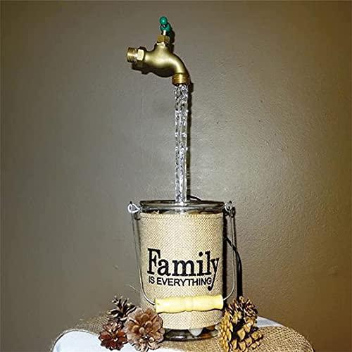 Fuente de regadera con pico que fluye invisible, fuente de grifo flotante, adornos de agua que fluye de imitación, decoración de arte de patio de bricolaje (1Pcs)