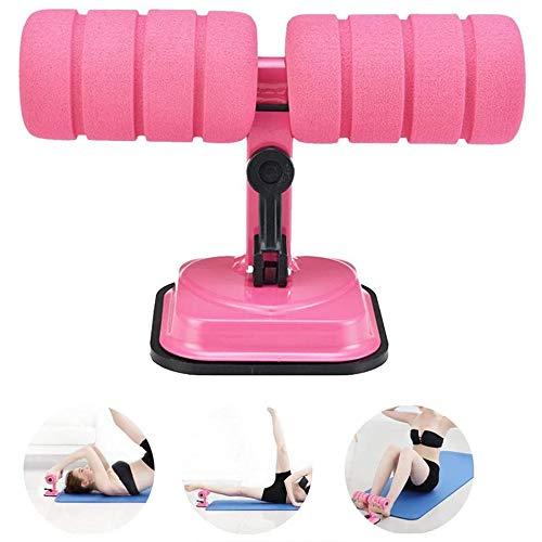 JXWANG Sit-Up-Maschine Für Bauchmuskeln Sit-Ups-Hilfsmittel Heimfitness-Lockenwickler Bauchfitnessgeräte Vom Saugnapf-Typ Für Heimübungen,Pink
