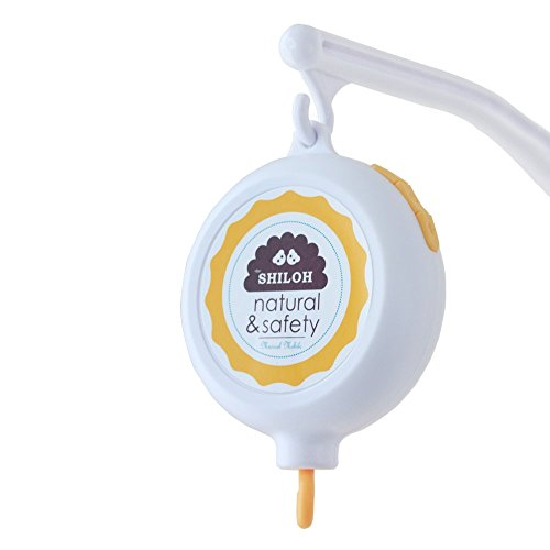 SHILOH Baby Musical Mobile Battery-operated 60 Songs White