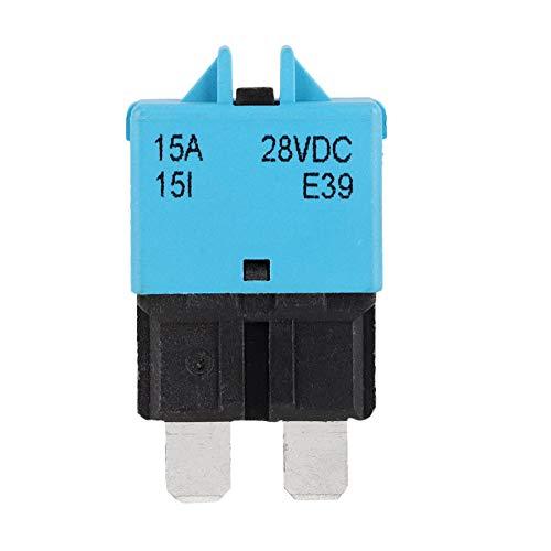 Suuonee Autoblade-zekering, DC28V, kleine zekering voor auto, boot, motor, reservezekering, blade autozekering default blue 15A