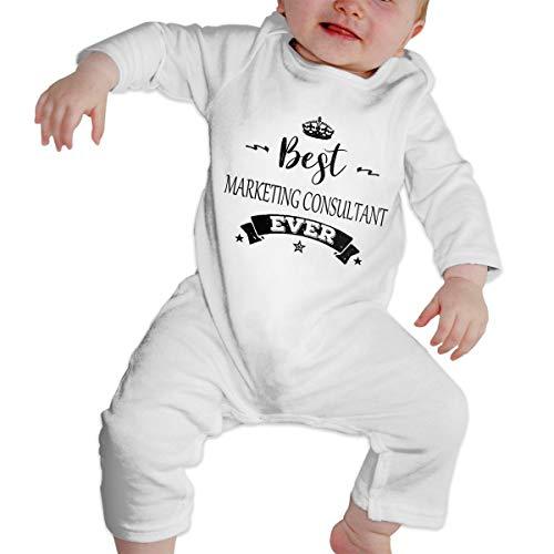 YtoaBmebqsu Best Marketing Consultant Ever 2 Funny Baby Onesies Tshirt White 6M