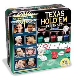 Poker Super Stars Invitational Tournament - Texas Hold 'Em Poker Set by Cardinal Industries