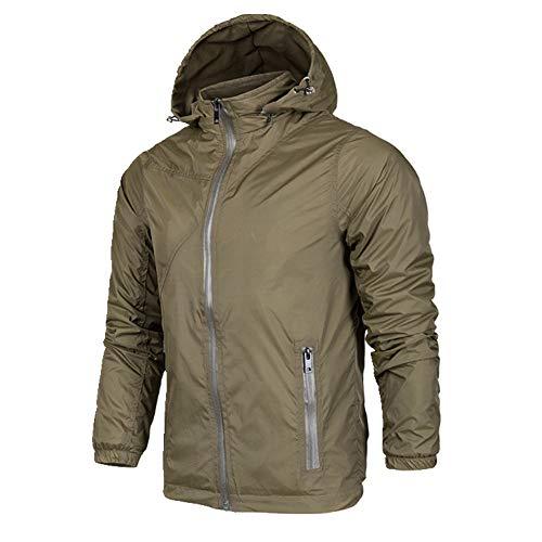 U/A - Chaqueta fina para hombre, para primavera, otoño, casual, chaqueta cortavientos para hombre Verde verde XL