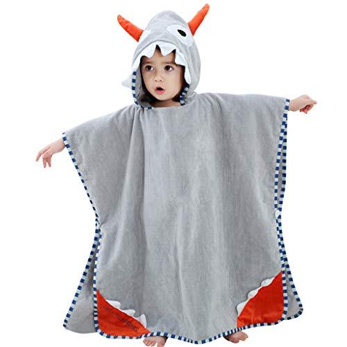 Albornoz para Niñas Niños - Bebé Toalla de Baño con 100% Algodón Capucha Animal de Dibujos Animados Traje de Dormir Ropa de Dormir Toallas Absorbentes