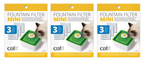 Catit 2.0 9-Pack of Mini Fountain Filters (3 Packages with 3 Filters Each)