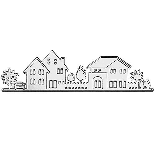 Gosear Troqueles Scrapbooking Hojas - Hermosa casa y el árbol de grabación en Relieve Matrices de Corte Plantillas Molde para el álbum de Scrapbooking Bricolaje Tarjeta de Papel