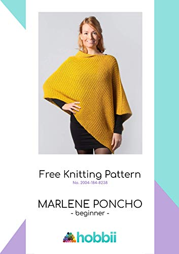 Free knitting modern patterns e-book for women: A contemporary beautiful poncho, for beginners, knitted with Alpaca yarn. (English Edition)