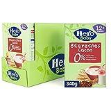 Hero Baby Papilla de 8 Cereales con Cacao - Para Bebés a Partir de los 12 Meses - Pack de 6 x 340 g