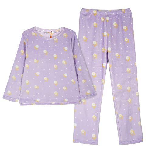 GOSO Pijama de Forro Polar para niñas,Pijama de Invierno cálido para Adolescentes niñas,Pijamas y...
