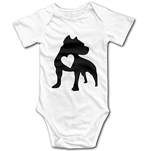 Love Pit Dog Infant Baby Boy Body de Manga Corta Chaleco Ropa Traje de Mameluco