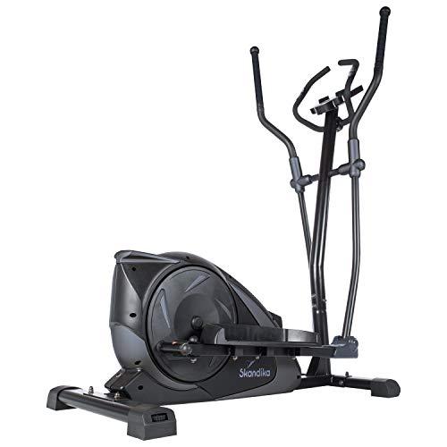skandika Adrett/Elegance - Vélo elliptique Crosstrainer - Bluetooth - Appli - 15 Prog - 32 Niveaux de résistance - Inertie 12 kg - Max. 130 kg (Adrett (Noir/Gris))
