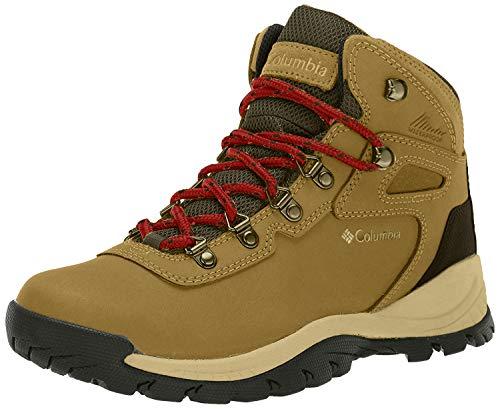 Columbia Women's Newton Ridge Plus Waterproof Hiking Boot, Delta/Red Velvet, 8.5