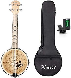 Kmise JT-1401 Banjo Ukulele 4 String Ukelele Uke Concert 23 Inch Maple with Bag Tuner