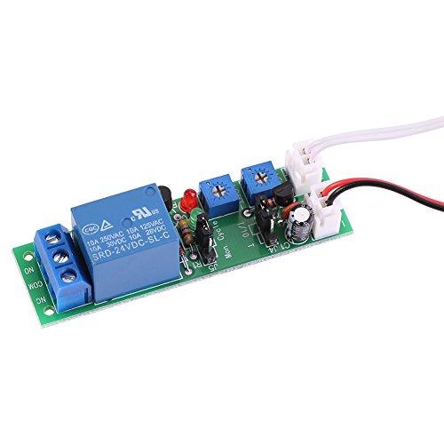 Módulo de retardo temporizador ciclo módulo relé encendido / apagado ajustable DC 5 V 12 V 24 V (CC 24 V, 0 – 30 min)