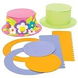 Baker Ross AC735 Kits Sombrero de Colores (paquete de 4) para que los niños diseñen, decoren y usen