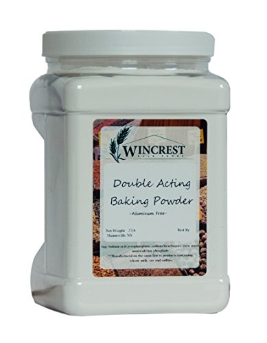 Double Acting Baking Powder - Aluminum Free - 3 Lb Economy Size Tub