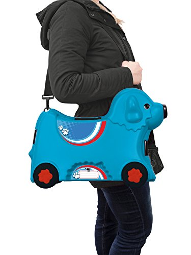 BIG 800055352 – Bobby-Trolley, Kinderkoffer, Kindergepäck, blau - 4