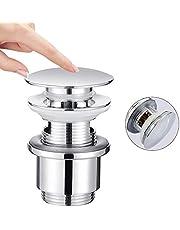 HOMELODY Válvula Pop Up de Drenaje para lavabo | Cobre Tapones Válvula de Desagüe para fregadero