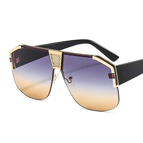 UKKD Gafas De Sol Hombres Gafas De Sol Hombres Mujeres Moda Trend Luxury Color Lens Pc Marco Diseñador De Marca Gafas De Sol-C5