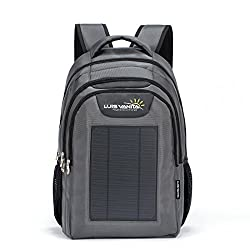 VBag solar backpack for laptop, gray