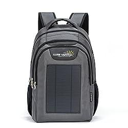 VBag Solar-Rucksack für Laptop, grau