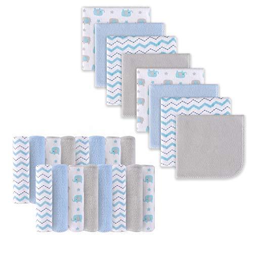 Babywaschlappen, Extra weiches und ultra saugfähiges Badetuch, Große Geschenke für Neugeborene und Säuglinge 24 Pack, Elefant