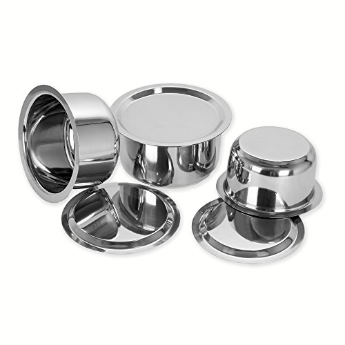 Sumeet Stainless Steel Cookware Set With Lid, 1L , 1.4L, 1.8L, 3...