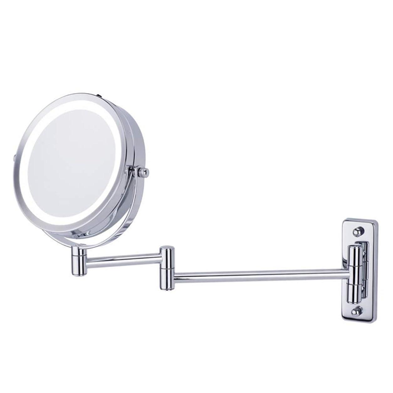 申し立てられたシャーク目立つ軽量化拡大鏡5x拡大鏡ウォールマウント両面6インチ360°;回転延長バニティミラークロームクロームシルバー