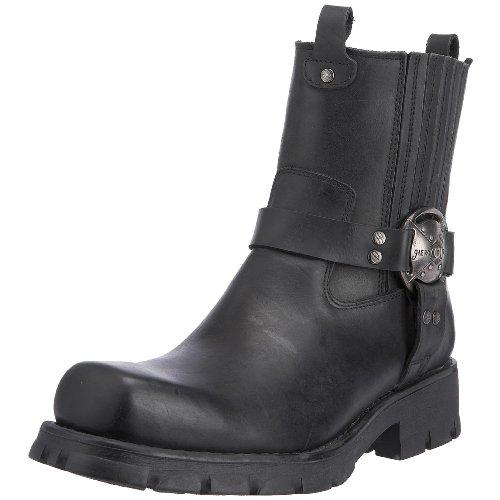 New Rock 7605-S1 - Botas de Cuero para Hombre, Color Negro, Talla 40.5
