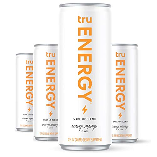 Tru Energy Seltzers | Natural Energy Drink | Wake Up Blend | 12oz (Pack of 4)