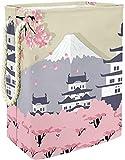 Lovethetrack Castillo de Himeji Cesta de lavandería con manijas Hampers para cestas de Almacenamiento de lavandería Forro Incorporado con Soportes Desmontables Bien sostenidos lavandería Plegable