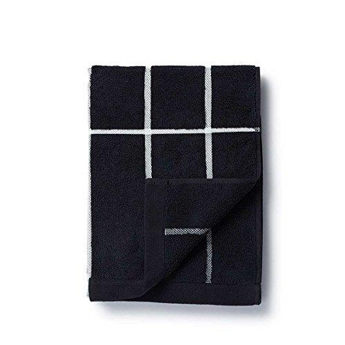 Marimekko TIILISKIVI Hand Towel 50X100 Black, White