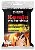 RAKSO Glas-Reiniger für Kamin-Scheiben Ofenglasreiniger Schwamm Kaminreiniger Kamin-Ofen und Kaminscheibenreiniger 2 St