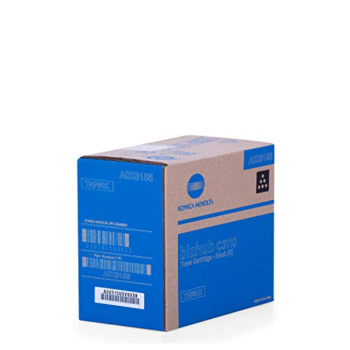 Original Konica Minolta A0X5155 / TNP-51 K, für Bizhub C 3110 Premium Drucker-Kartusche, Schwarz, 13000 Seiten