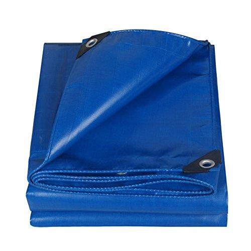 Dongyd Couvre-Tapis imperméable léger Bleu pour Camping, pêche, Jardinage et Animaux domestiques - Tissu Enduit de PVC, épaisseur 0,45 mm, 500 g/m², Facile à Transporter