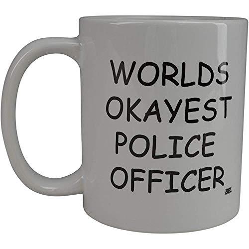 Koffie MugPolice Officer nieuwigheid Cup leuk cadeau-idee voor Office Gag White Elephant geschenk humor politie officier Cop rechtshandhaving (Politie Officer)