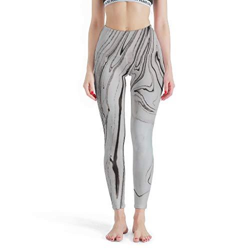 FFanClassic Leggings deportivos textura mármol niñas sin costuras levantamiento de glúteos - Pantalón de yoga para ciclismo blanco 3xl