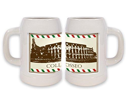 Boccale Birra Viaggi Cucina Colosseo Roma Stampato