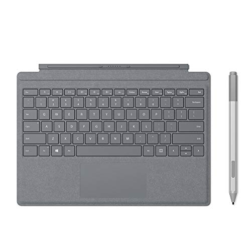 Microsoft Surface Pro Type Cover (QWERTZ Keyboard) Platin Grau + Surface Pen Platin Grau
