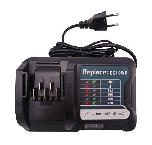 Sostituire il caricabatterie 10.8V-12V DC10WD per Makita BL1020B BL1021B BL1041B BL1015 BL1016 DC10SB DC10WC DF031D DF0331D TD110D JR103D 197406-2 197339-1