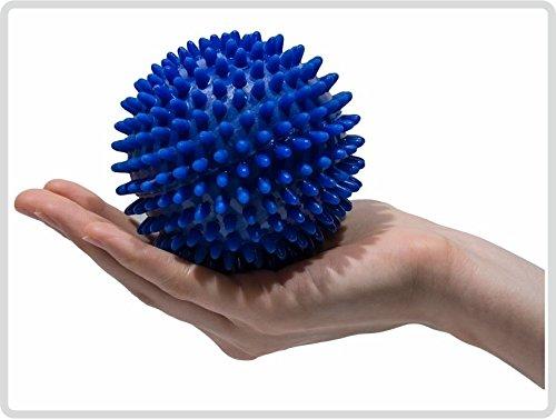 Pflegehome24® Igelball Igel-Ball Noppenball Massageball 10 cm, Blau