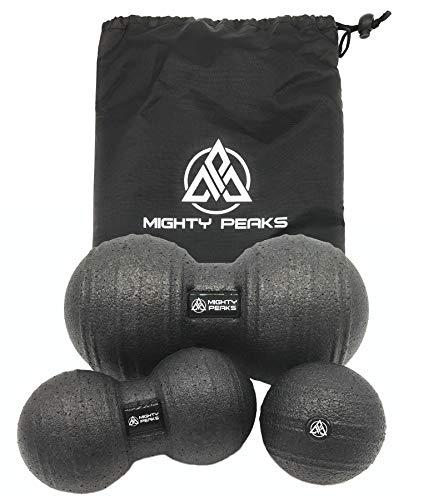 MIGHTY PEAKS Faszien-Rolle Set Faszien-Ball Massage-Ball Massage-Rolle für Yoga-, Pilates-, Muskel- und Faszien-Training